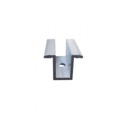 ZESTAW 2x Klema środkowa srebrna + Śruba M8x30 + Wpust