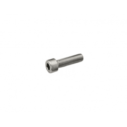 ZESTAW 2x Klema środkowa srebrna + Śruba M8x25 + Wpust