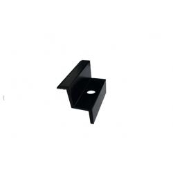 ZESTAW 4x Klema końcowa czarna + Śruba M8x25 + Wpusty