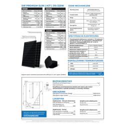 DETAL SW Premium SLIM (HJT) Black/White 315W