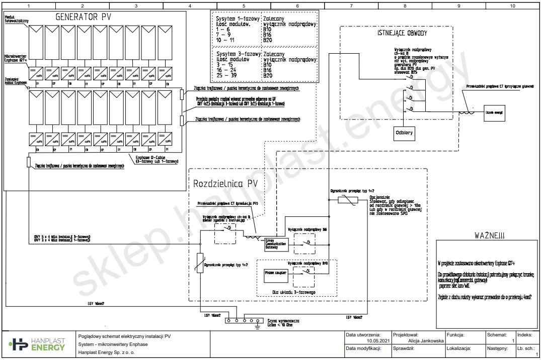 Schemat elektryczny Enphase