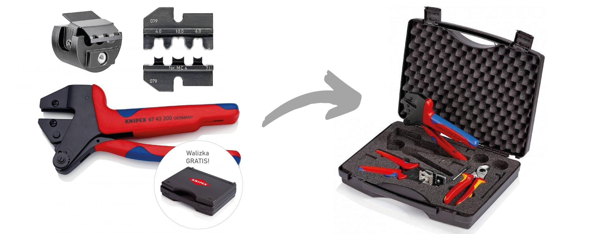 Skompletuj swoją walizkę narzędziowa do fotowoltaiki MC4 - PROMOCJA!